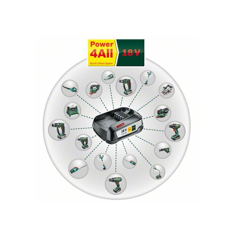 Taille-haies sans fil 18V BOSCH AHS 50-20 LI - 1 batterie 18V 2,5Ah 281531