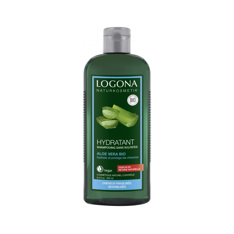 Shampoing hydratant à l'aloe vera bio en flacon de 250 ml 281602