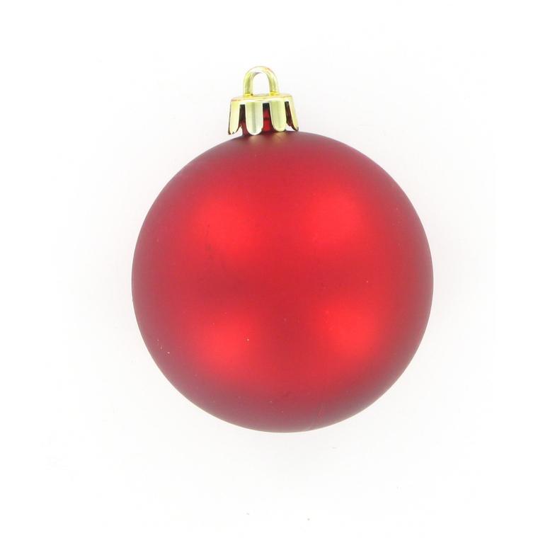 Boules rouges plastique x 16 284546