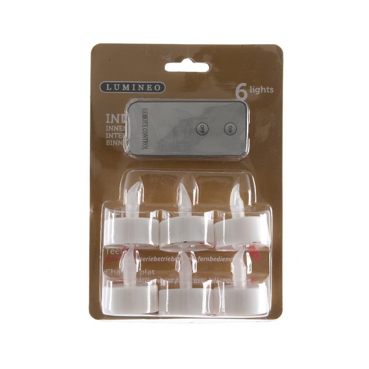 6 chauffe-plats LED avec télécommande