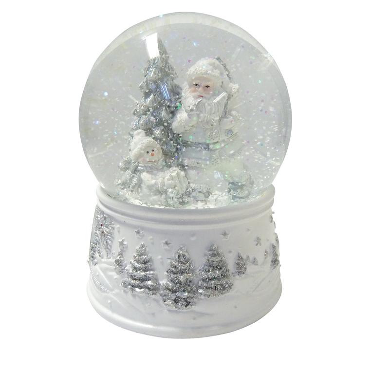 Boule à neige avec Père-Noël, musicale de 15cm 286815