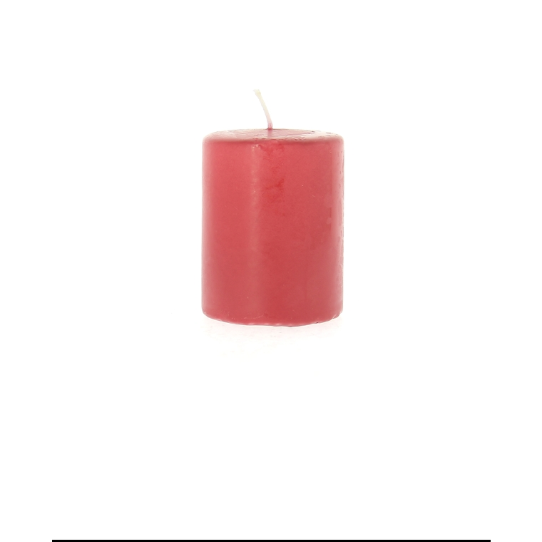 Bougie cylindrique rouge 6x8 cm 287588