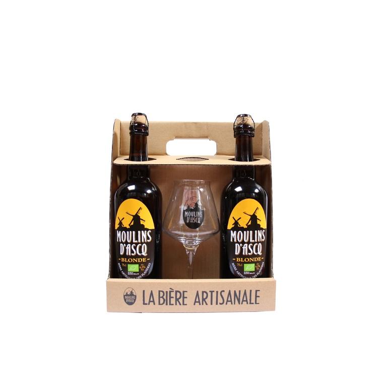 Pack 2 bières bio 75 cl + 1 verre 288199