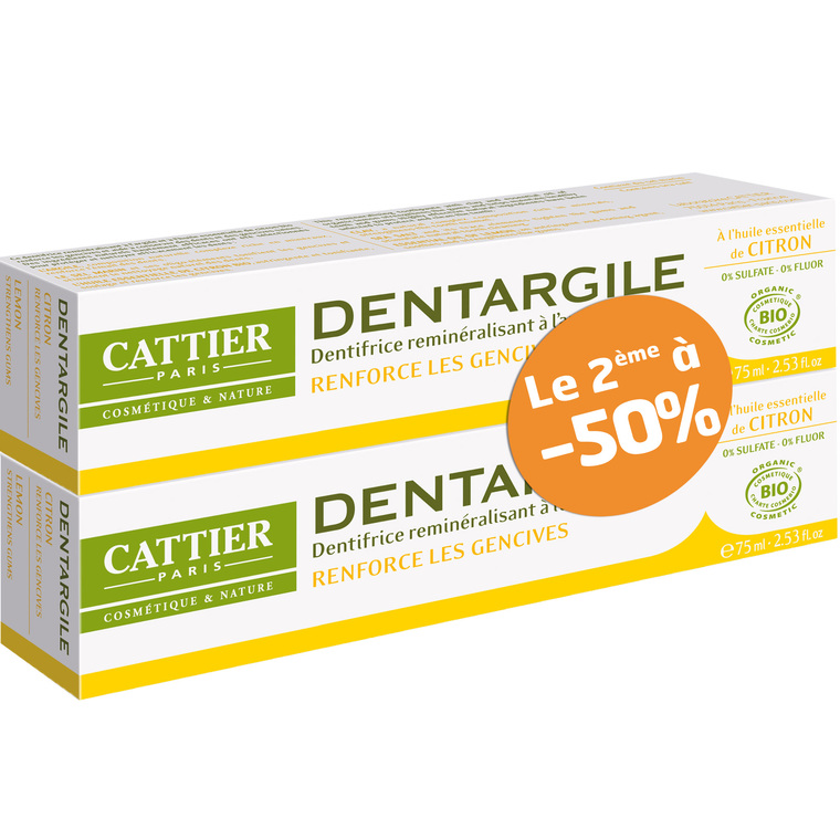 Dentifrice Dentargile citron lot de 2 x 75 ml 288285