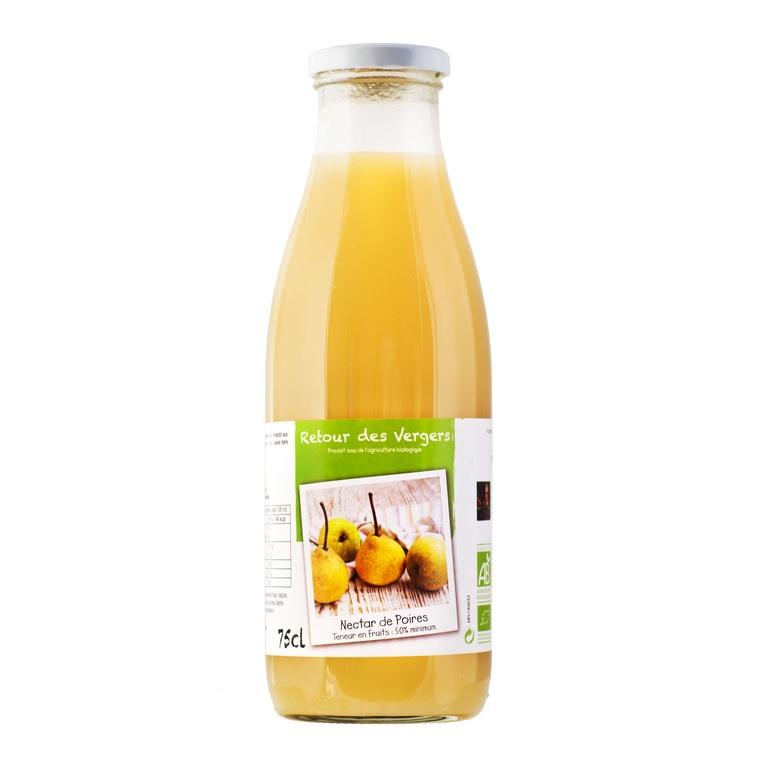 Nectar de poires bio en bouteille de 75 cl 288379