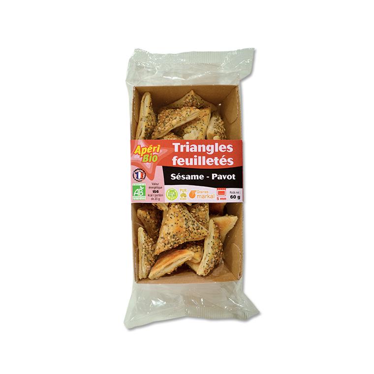 Triangles feuilletés au sésame et pavot - 60 gr 291211