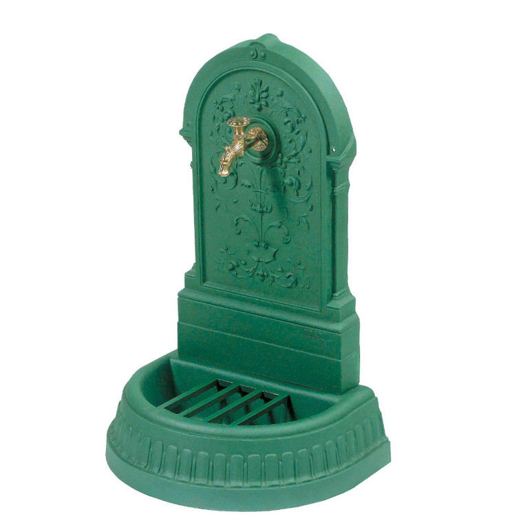 Fontaine Floraison couleur vert antique avec robinet Colvert - 98 cm de haut 291860