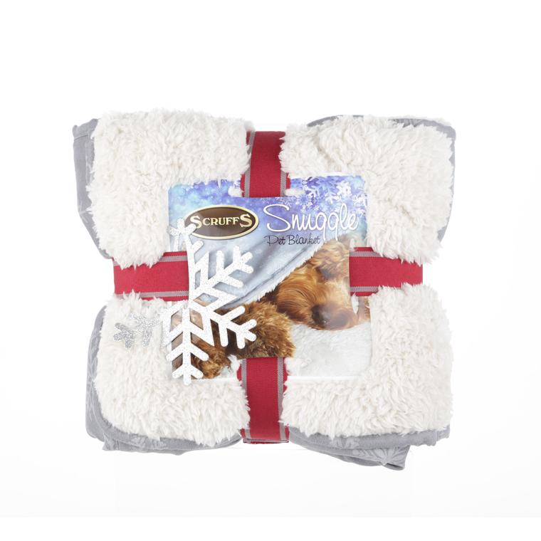 Scruffs plaid gris de Noël pour animaux 110 x 75 cm 292443