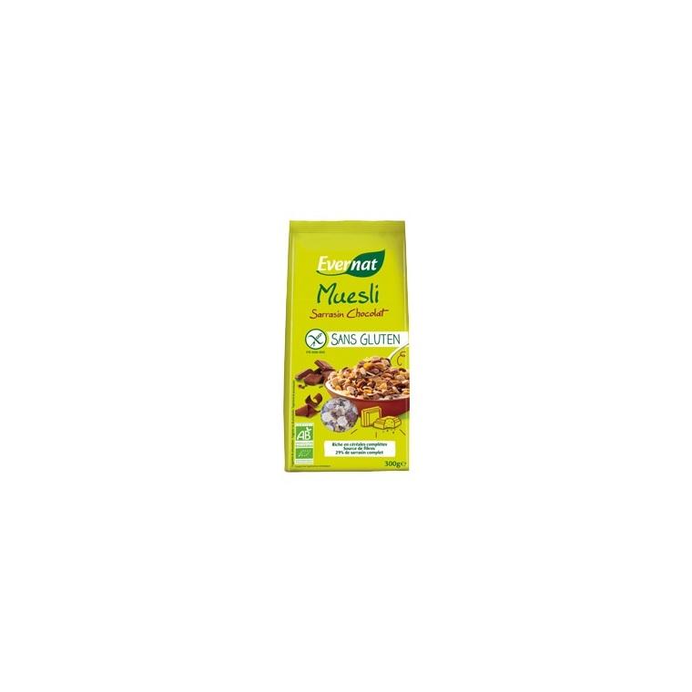 Muesli au sarrasin et chocolat sans gluten bio 300 g 292723