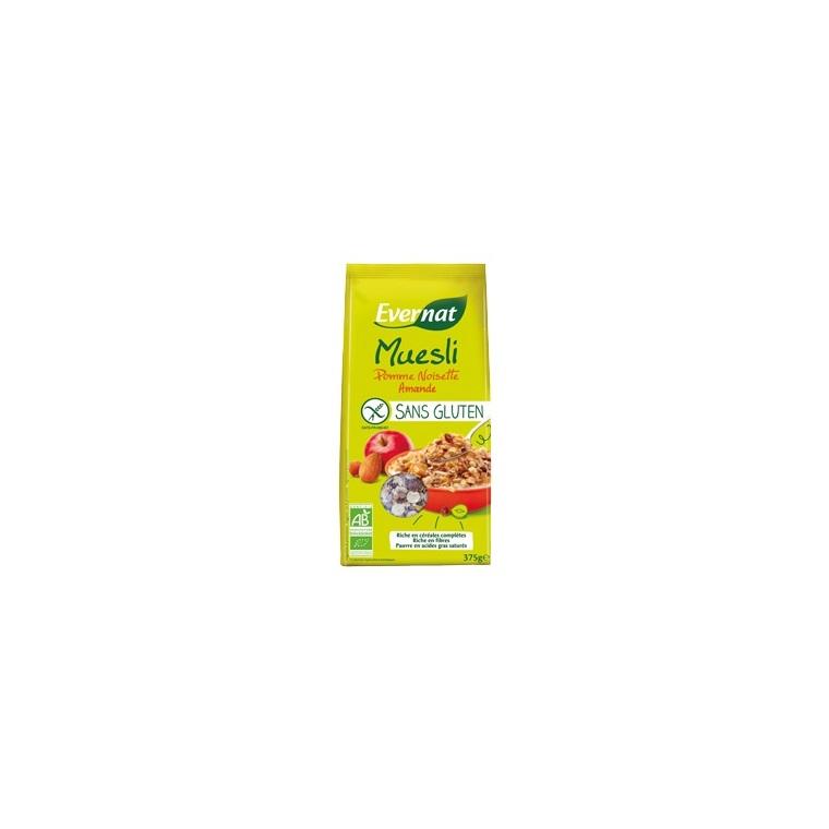 Muesli aux pommes et noisettes sans gluten bio 375 g 292724