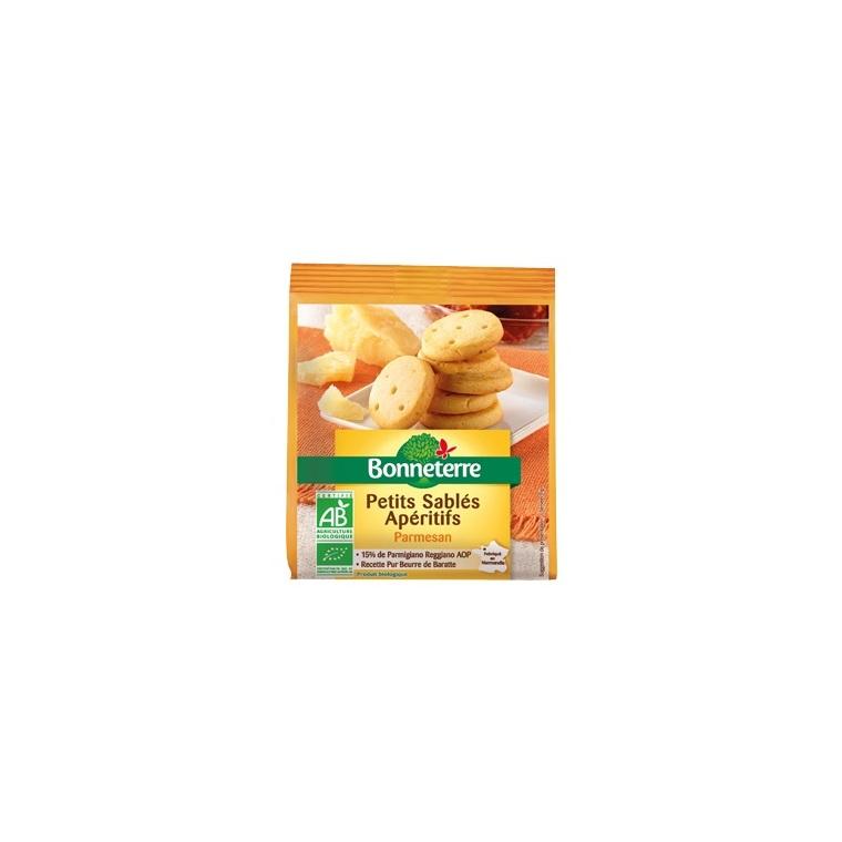 Petits sablés apéritifs au parmesan Bonneterre bio 90 g 292728