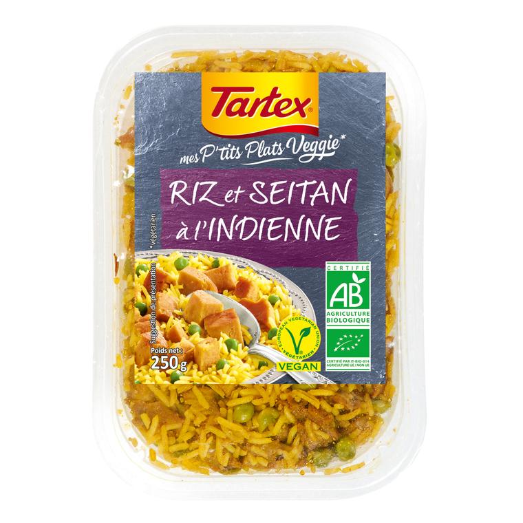 Riz et seitan à l'indienne veggie bio 250 g 295270