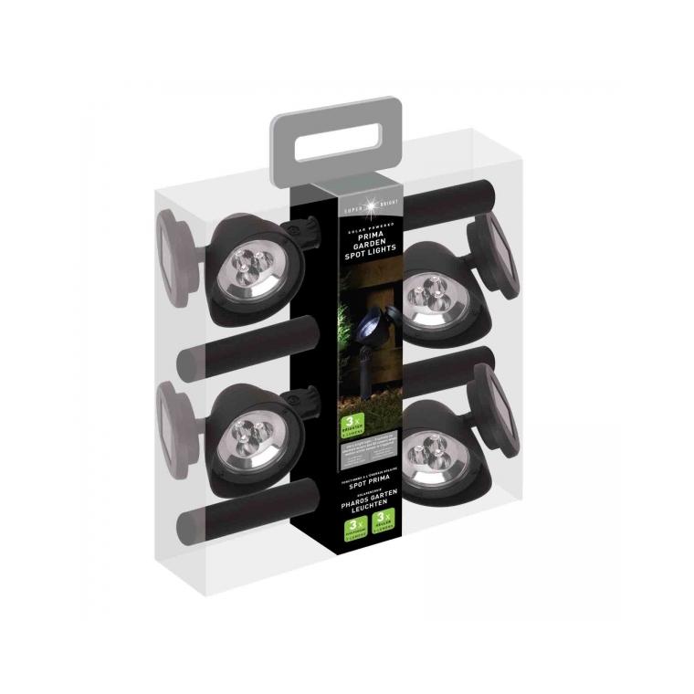 Pack de 4 spot Prima solaires LED 297762