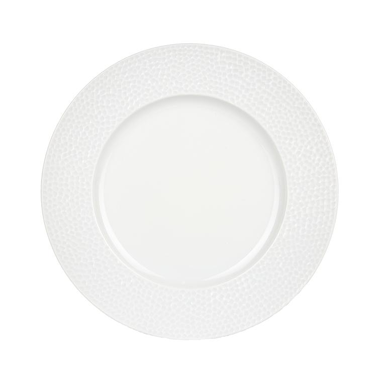 Assiette plate Louna blanche en porcelaine Ø 27 cm 297946