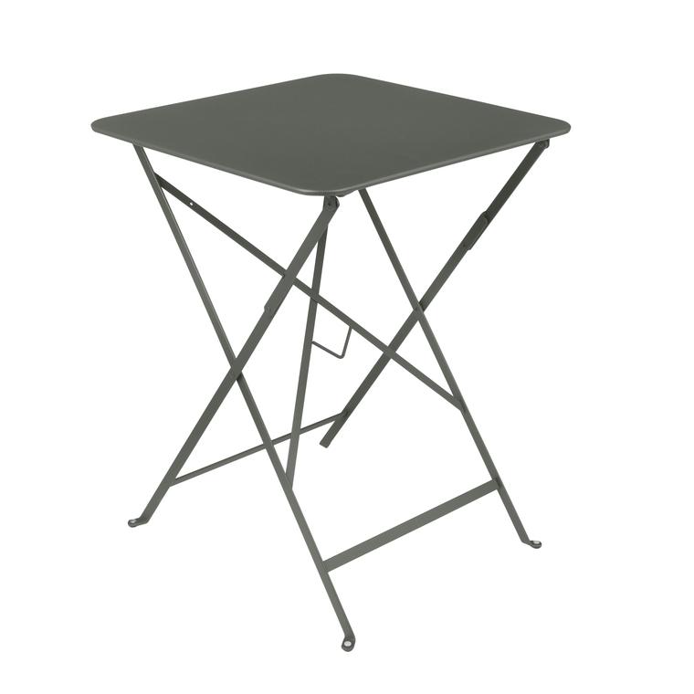 Table pliante carrée couleur romarin 57 x 57 x 74 cm : Tables de ...