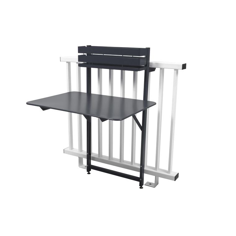 Table De Balcon En Bois Rabattable: Table Balcon Pliante Bistro Urbain Carbone : Tables De