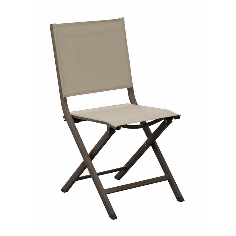 Chaise de jardin Max couleur café / beige : Tables et chaises de ...