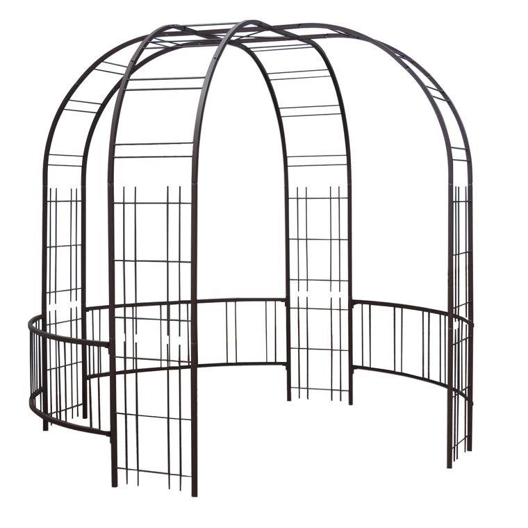 Kiosque Premium Avec Treillage En Fer Vieilli Arches De Jardin Et