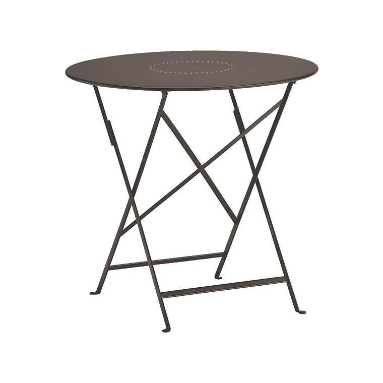 table de jardin ronde pliante bistro fermob rouille 77 x h 74 cm comparer les prix sur shopoonet. Black Bedroom Furniture Sets. Home Design Ideas