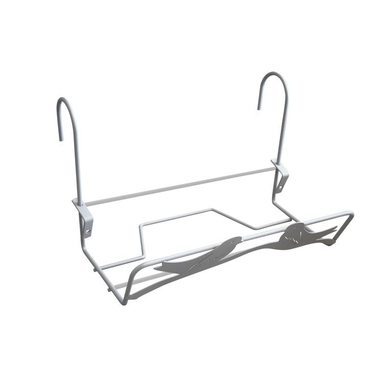 support de jardini re en fil gris alu avec d cor oiseaux 35x14 cm jardini res et balconni res. Black Bedroom Furniture Sets. Home Design Ideas