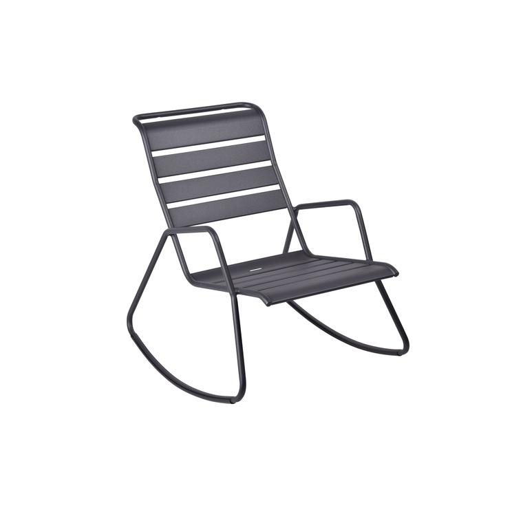 Rocking chair Monceau noir : Bains de soleil et transats ...