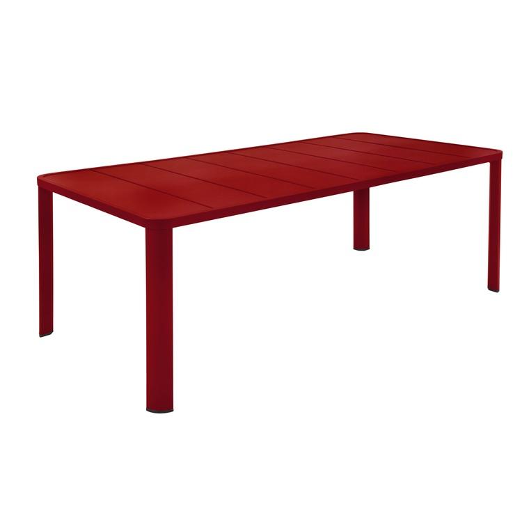 Table Oléron XL Piment : Tables de jardin FERMOB mobilier ...