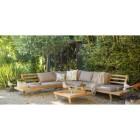 Salon d\'angle bas Costa en teck : Salons de jardin AUTRES MARQUES ...