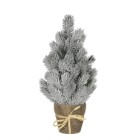 Mini sapin de Noël artificiel vert givré en pot 40 cm 357483