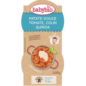 Pots de patate douce tomate colin et quinoa Babybio 2 x 200 g 300893