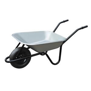 Brouette de jardinage Galva gris/noir 100L 300952
