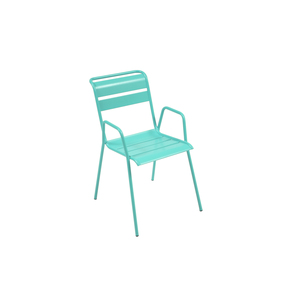Chaise empilable de couleur bleu lagune 300990