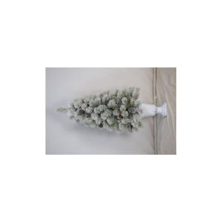 Sapin de Noël artificiel vert givré en pot 135 cm 682522