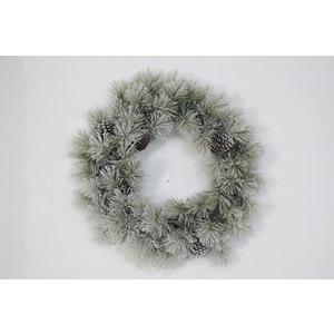 Couronne Enneigée Ø60 cm PVC Blanc 682524