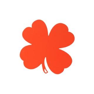 Dessous de plat trèfle orange 301027