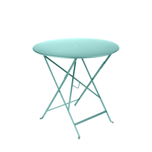Table pliante ronde couleur Bleu Lagune 77 x h 74 cm 301029