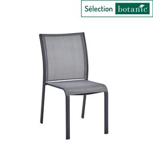 Chaise Carlina grise en aluminium et textilène 60 x 48 x 87 cm 302731