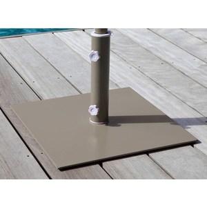 Pied carré en acier pour parasol arc-en-ciel coloris taupe 302815