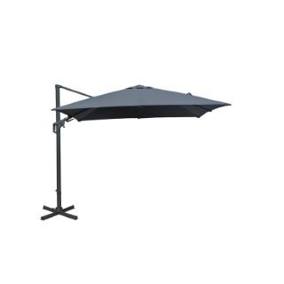 Parasol déporté orientable gris 3x3m 302818