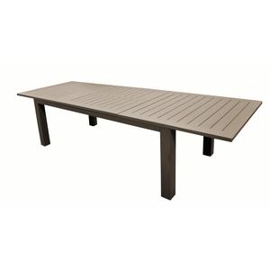 Grande table Caméline à rallonges couleur Café 214/311 x 110 x 75 cm 302828