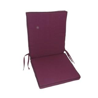 Coussin dossier violet pour fauteuil haut 304569