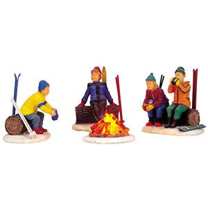 Feu de camp des skieurs 10.5 x 6 x 5 cm 307643