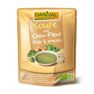 Soupe bio de Chou-fleur Kale et brocolis - 50 cl 307897