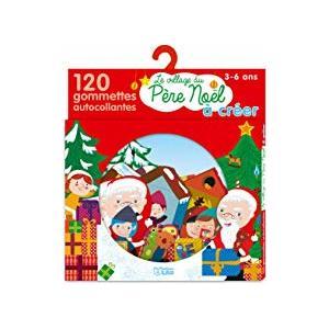 Gommettes mon petit monde à créer village de Noël éditions Lito 307906
