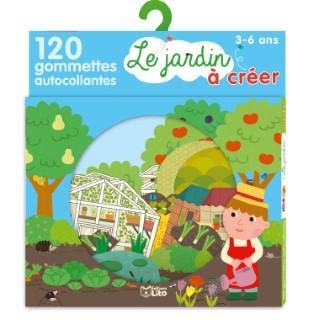 Le Jardin Mon Petit Monde à Créer des Gommettes 3 ans Éditions Lito 309323