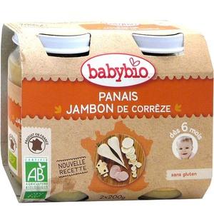 Pots de panais et jambon de Corrèze Babybio 2 x 200 g 310492