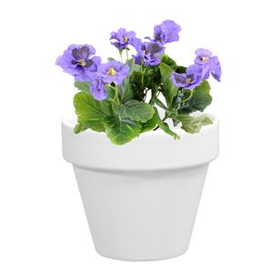 Pot horticole en terre cuite émaillée Blanc – D14 x H12 310765