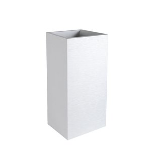 Pot carre haut Graphit Blanc cérusé - L39x l39x H80 312472