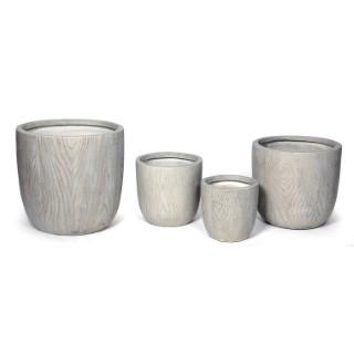 Pot rond LIA S/4 gris clair 14,22 L 313767
