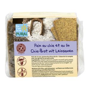 Pain aux graines de chia et de lin en sachet transparent de 375 g 314546
