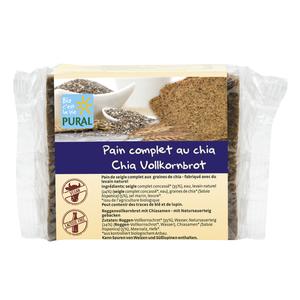 Pain complet aux graines de chia en sachet transparent de 375 g 314547